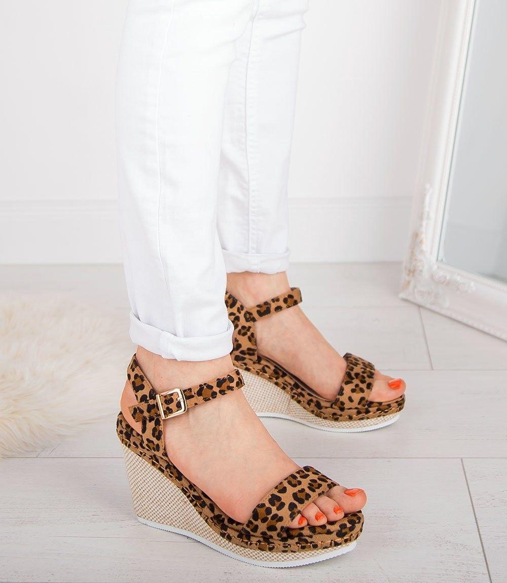 Sandałki damskie Ideal Shoes U-6292 Panterka