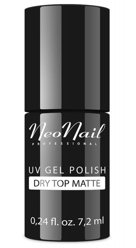 NeoNail - UV GEL POLISH - DRY TOP MATTE - Matowy, nawierzchniowy lakier hybrydowy bez przemywania - 7,2 ml