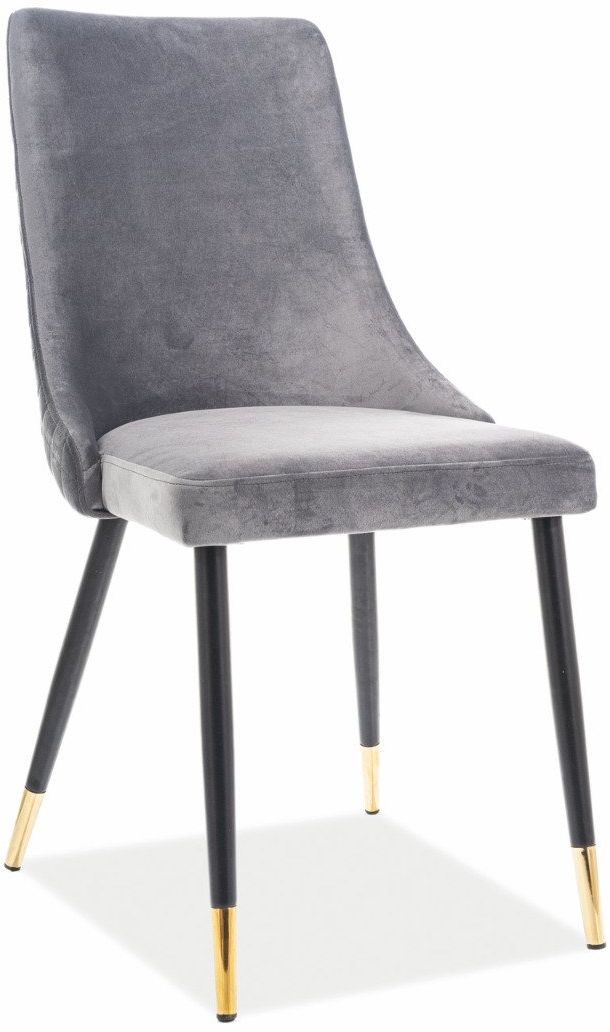 Krzesło PIANO VELVET szare z pikowanym oparciem  KUP TERAZ - OTRZYMAJ RABAT
