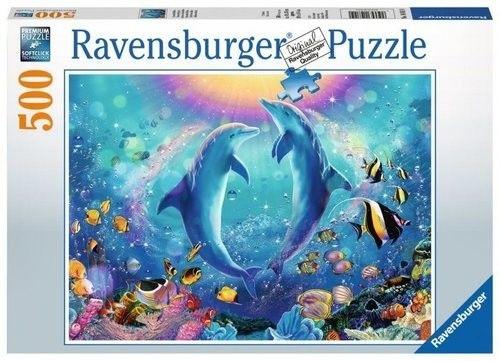 Puzzle Raven 500 - Tańczące delfiny, Dancing dolphins