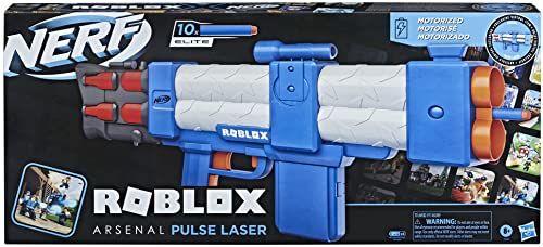 Zautomatyzowana wyrzutnia strzałek Nerf Roblox Arsenal: Pulse Laser, 10 strzałek Nerf Elite, 10-strzałkowy magazynek, kod odblokowujący przedmiot wirtualny w grze