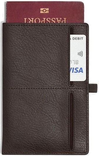 Etui na paszport i karty stackers brązowe