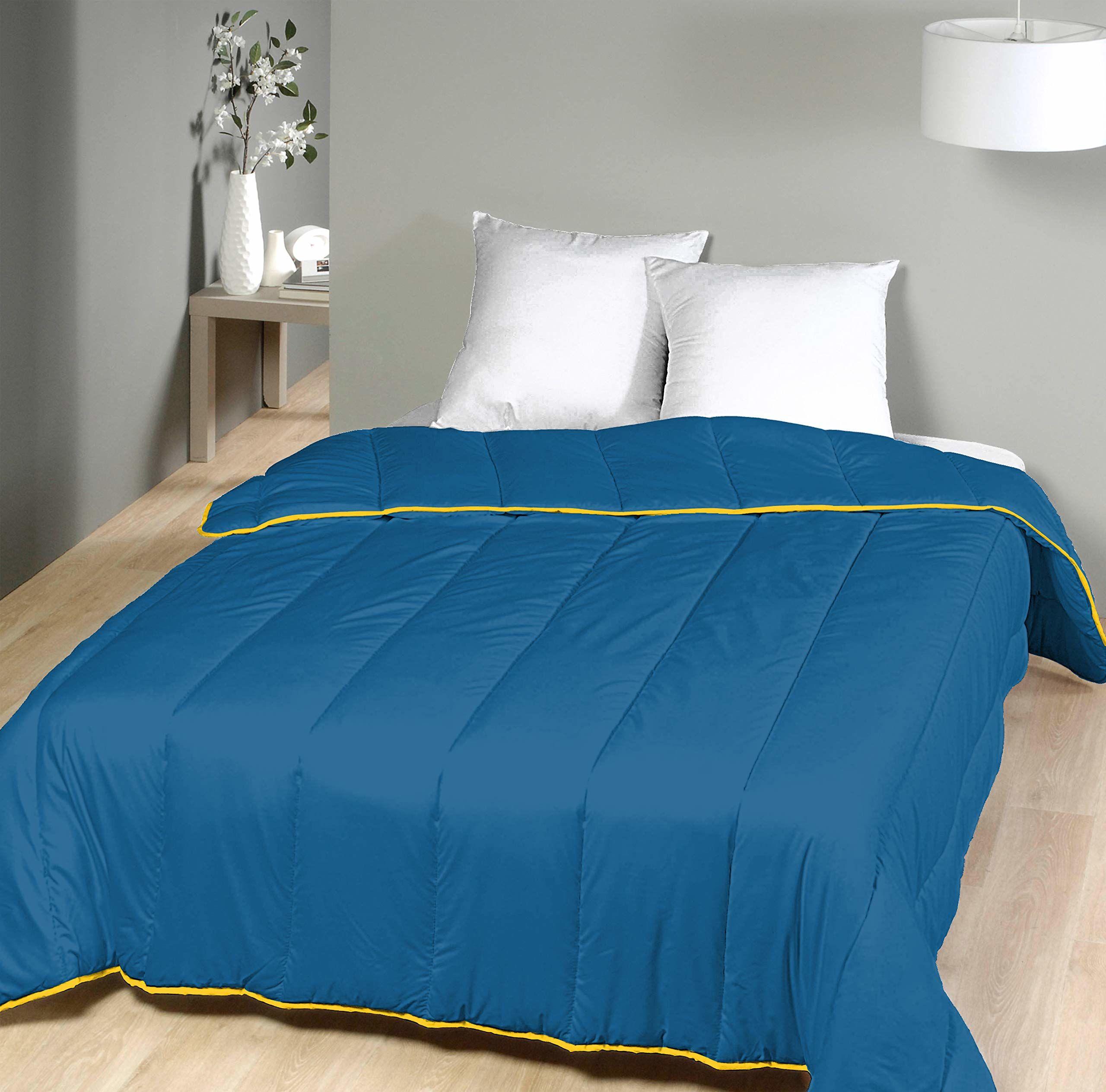 Laurentmortreux kołdra pikowana, 240 x 260 cm, poliester, 240 x 260 cm, kolor niebieski