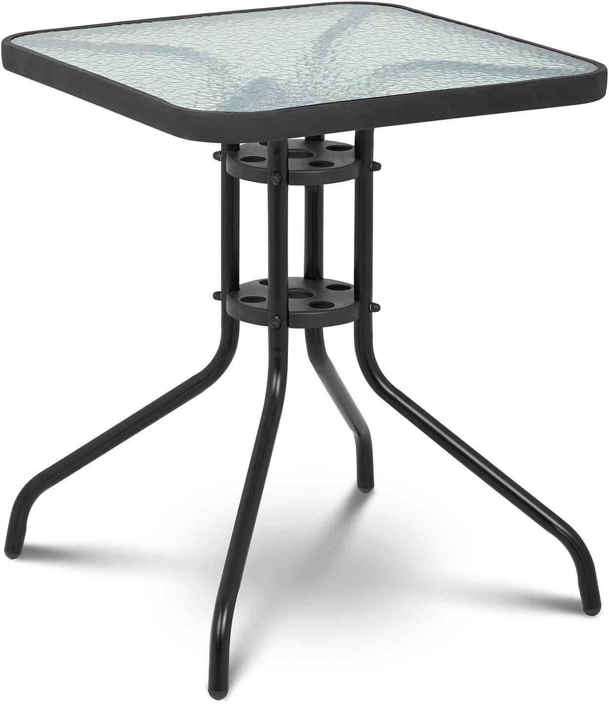 Stolik balkonowy - 60 cm - kwadratowy - Uniprodo - UNI_TABLE_02 - 3 lata gwarancji/wysyłka w 24h