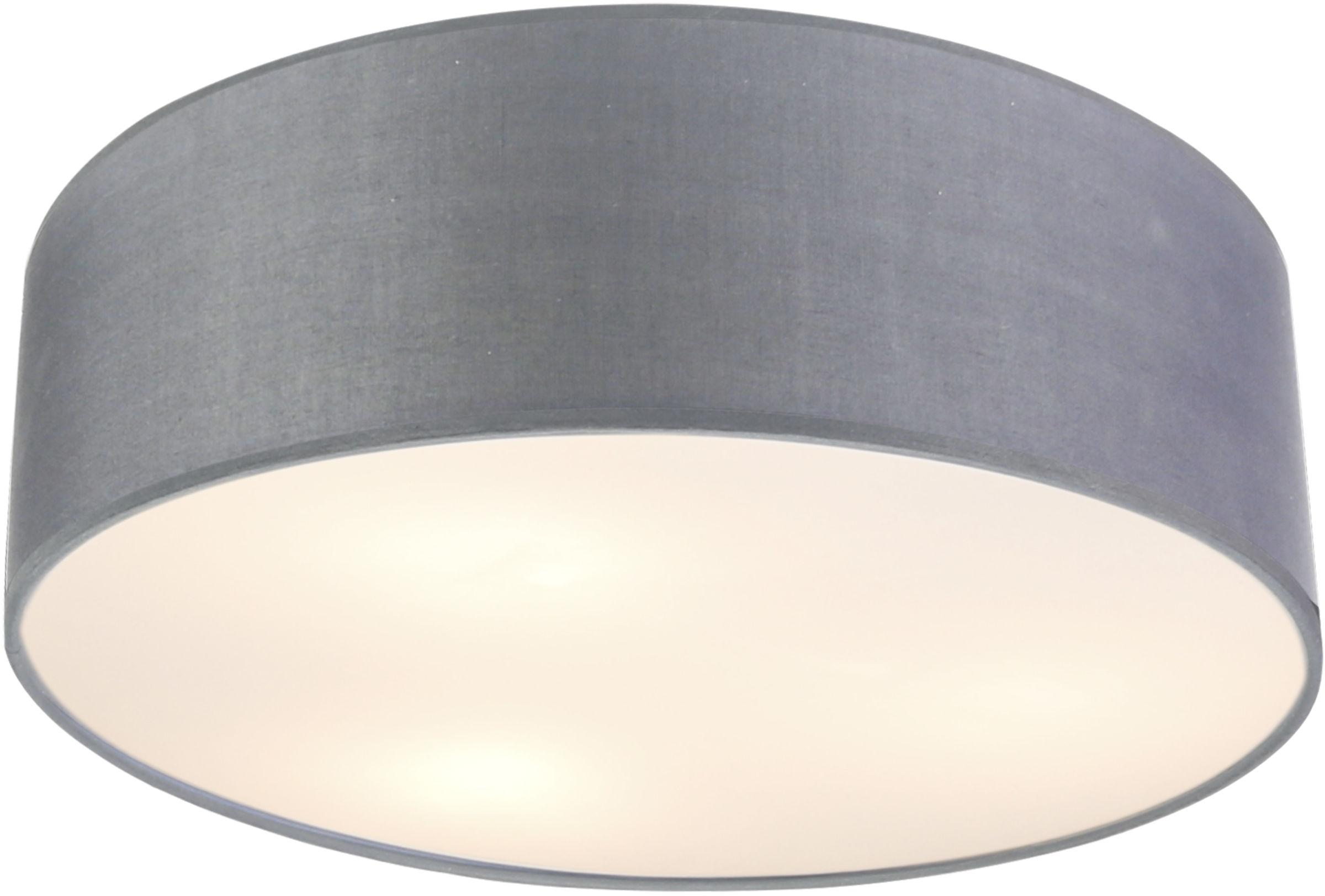 Candellux KIOTO 31-64707 plafon lampa sufitowa abażur jasno szary 3x40W E27 50cm
