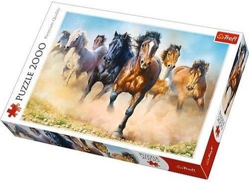 Puzzle TREFL 2000 - Galopujące konie, Galopping horses