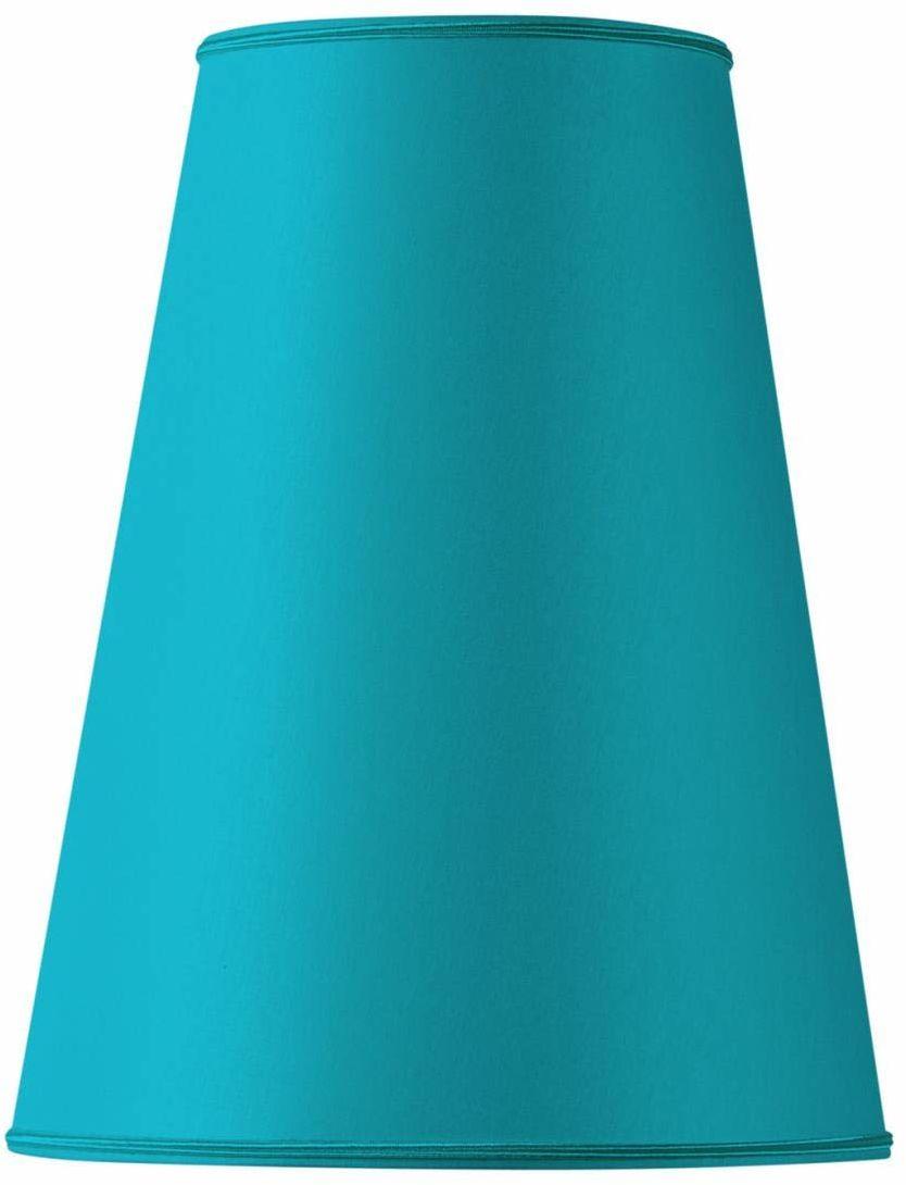 Klosz lampy w kształcie bistro, 18 x 09 x 27 cm, turkusowy