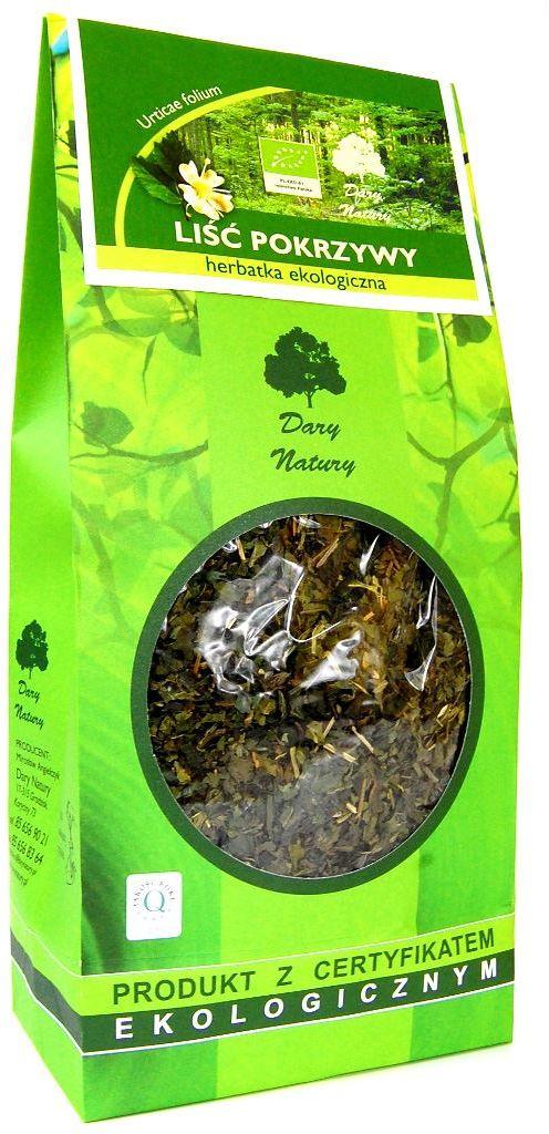 Herbatka liść pokrzywy bio 100 g - dary natury