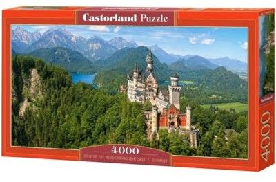 Puzzle Castor 4000 - Viev of the Neuschwanstein Castle, Germany