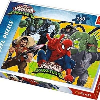 Puzzle TREFL 260 - Spider-Man w akcji, Spider-Man in action