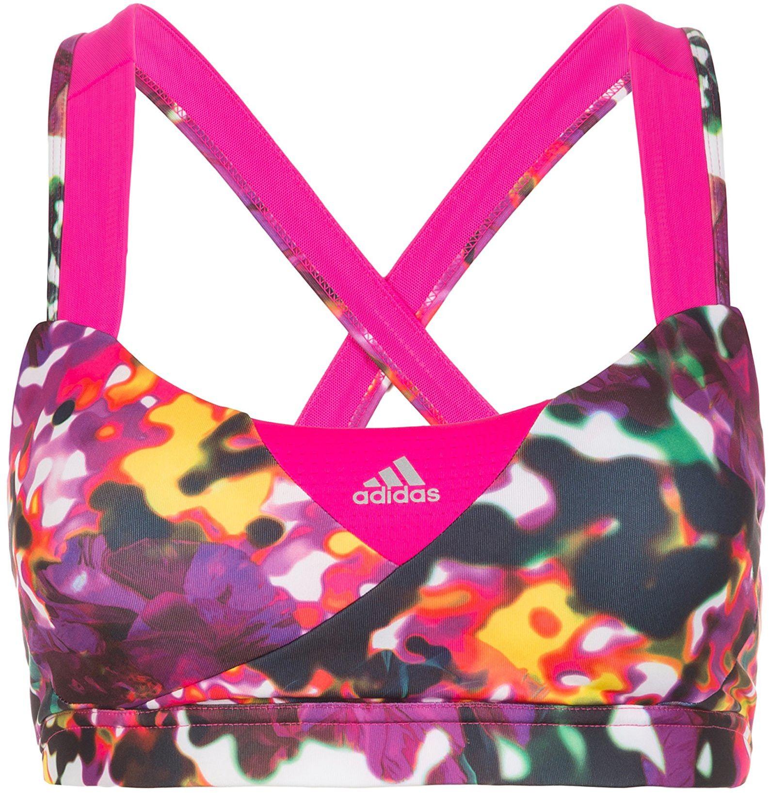 adidas Damski biustonosz sportowy Supernova Graphic, wielokolorowy/Shock Pink, S