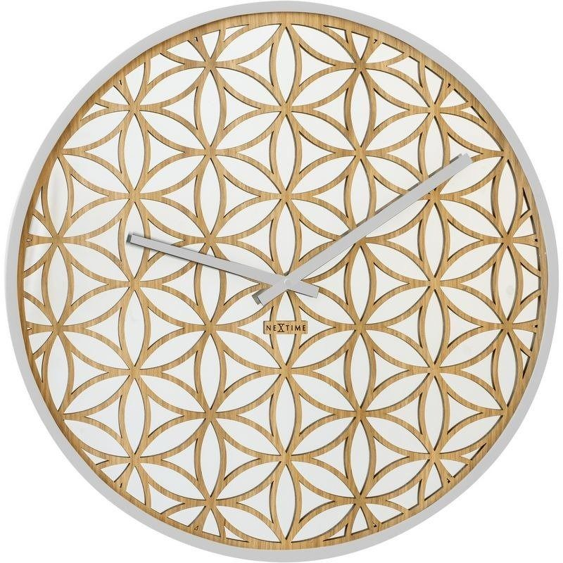Nextime - zegar ścienny bella mirror - biały