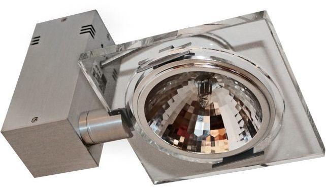 LM Light&More P 1057/1 REFLEKTOR NOWOCZESNA LAMPA SUFITOWA OPRAWA NATYNKOWA ALUMINIUM SZKŁO GY6,35 1x50W LED