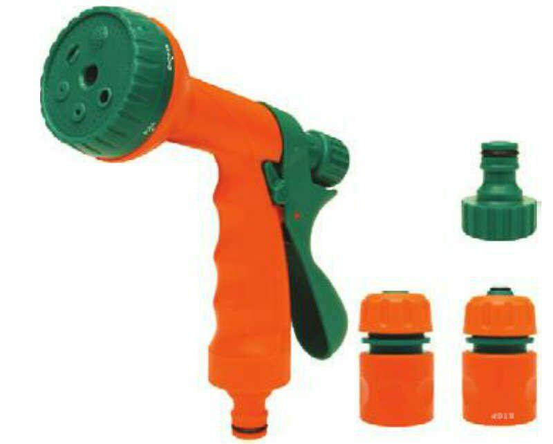 Zestaw 1/2'': złączki z pistoletem zraszającym wielofunkcyjnym Flo 89206 - ZYSKAJ RABAT 30 ZŁ