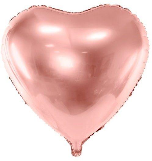 Balon foliowy Serce różowe złoto 45cm 1 sztuka FB9M-019R