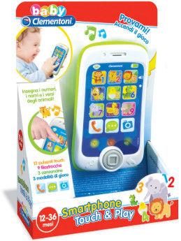 Interaktywny Edukacyjny Kolorowy Smartfon dla Dzieci Clementoni