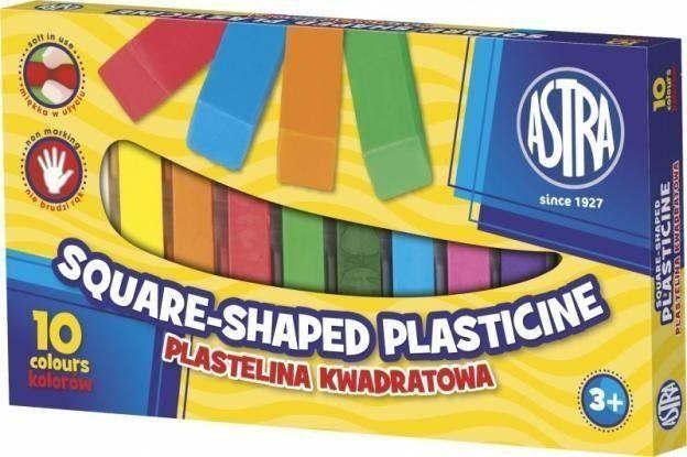 Plastelina kwadratowa 10 kolorów ASTRA - ASTRA papiernicze