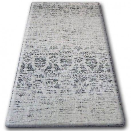 DYWAN SZNURKOWY SIZAL FLOORLUX 20211 srebrny / CZARNA 60x110 cm