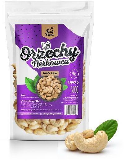 REAL FOODS - ORZECHY NERKOWCA CAŁE 500G