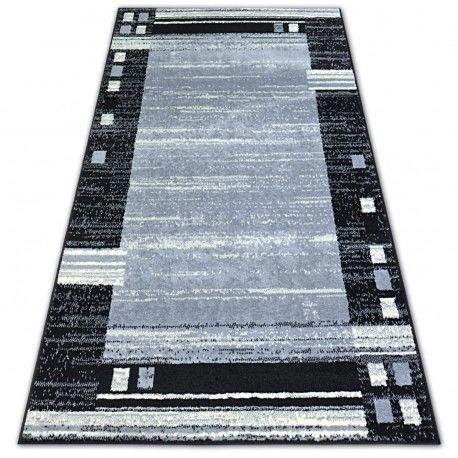Dywan BCF BASE CHASSIS 3881 RAMKA szary/czarny 120x160 cm