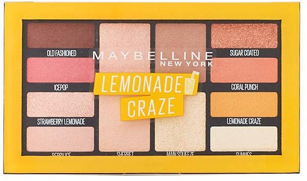 Maybelline New York Lemonade Bar paleta cieni do powiek nr 01 Lemonade Craze, 12 g