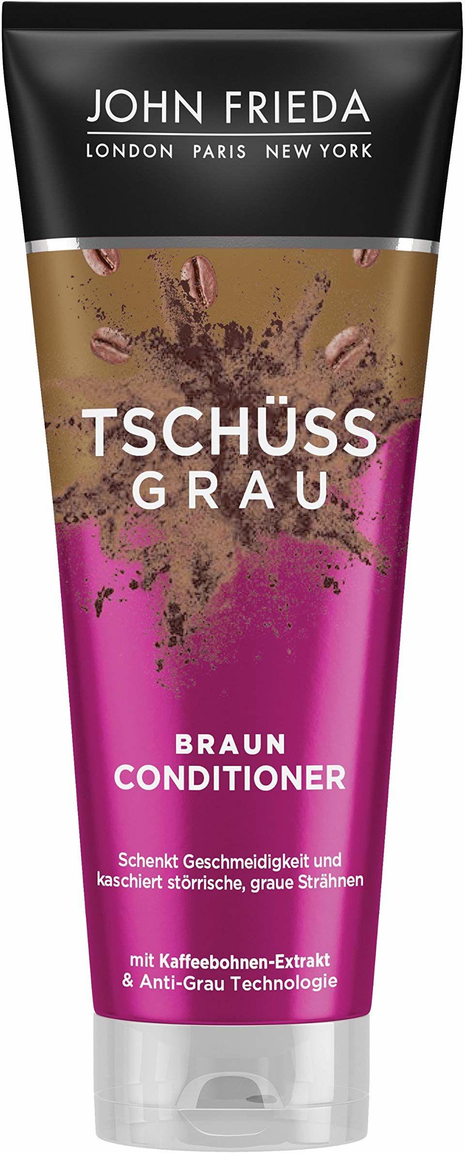 John Frieda Braun Conditioner  Tschss Grau  nadaje włosom gładkości i kaszeruje szare pasemka  z ekstraktem z ziaren kawy, 250 ml 26244