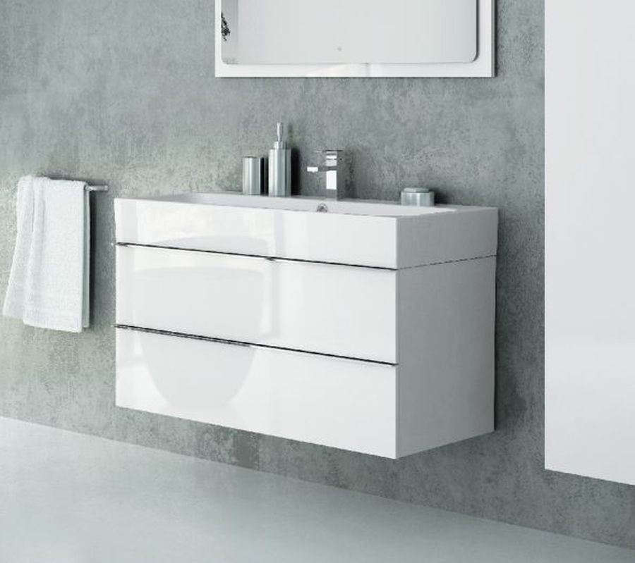 Szafka z umywalką 100 Kubiko New Trendy (ML-9010 + U-0078)