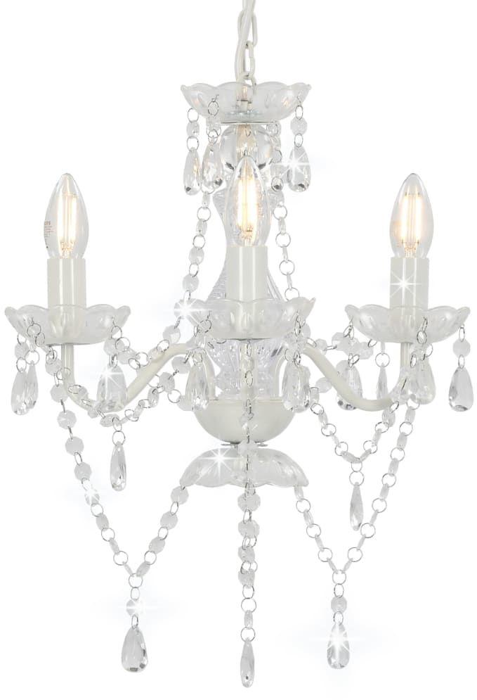 Biały kryształowy żyrandol świecznik - EX95-Zeus