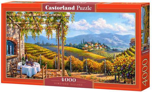 Puzzle Castor 4000 - Świat winnic, Vineyard Village