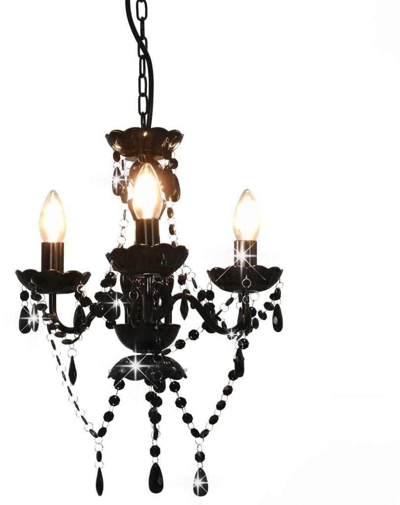 Czarny żyrandol kryształowy świecznik - EX95-Zeus