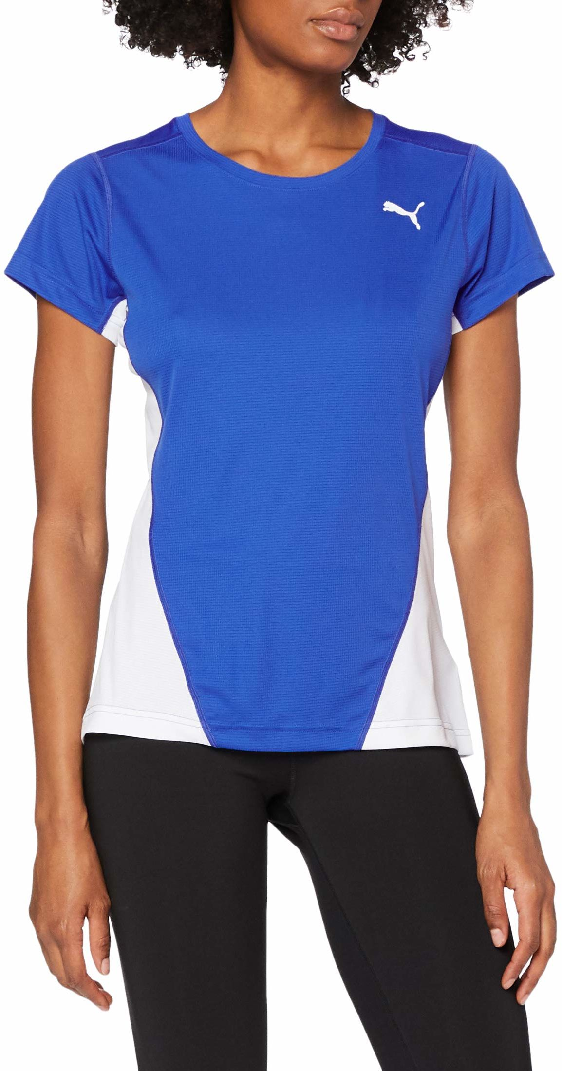 PUMA męska koszulka Cross the Line, Team Power Blue White, mała