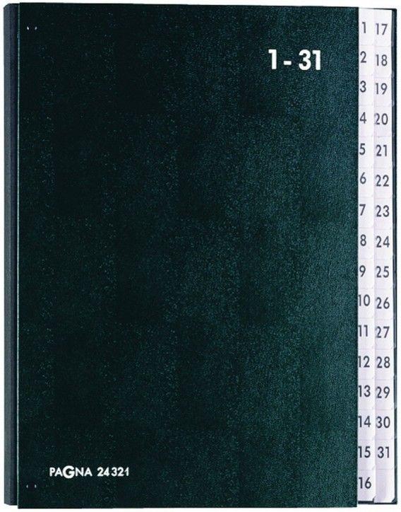 Teczka Do Podpisu Skorowidz 1-31 Pagna Durable Czarna P2432104