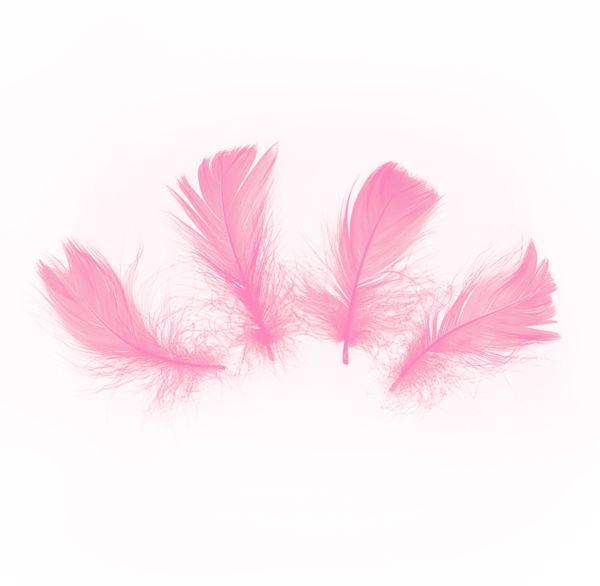 Piórka dekoracyjne krótkie 5 cm różowe ok. 50 sztuk 512471