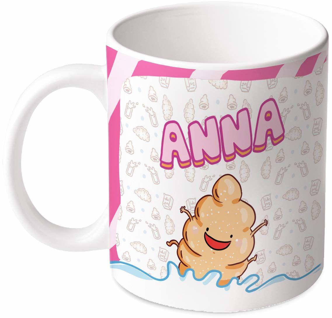 M.M. Group Filiżanka z imieniem i znaczeniem Anna, 30 ml, ceramika, wielokolorowa