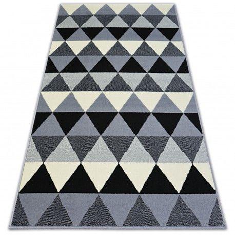 Dywan BCF BASE TRIANGLES 3813 TRÓJKĄTY czarny/szary 120x160 cm
