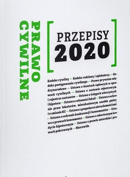 Prawo Cywilne Przepisy 2020 ZAKŁADKA DO KSIĄŻEK GRATIS DO KAŻDEGO ZAMÓWIENIA