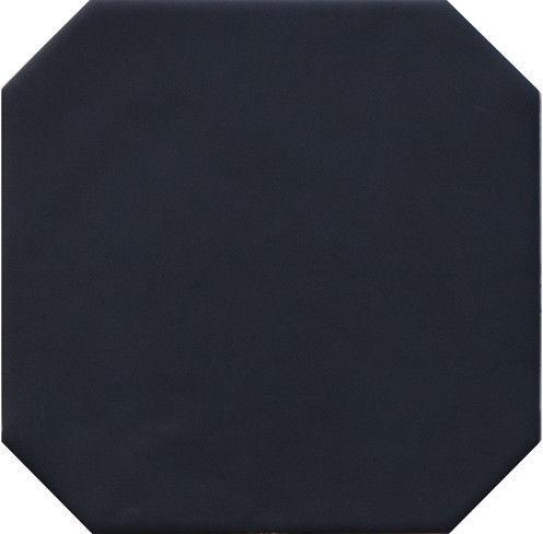 Octagon Negro Mate 20x20