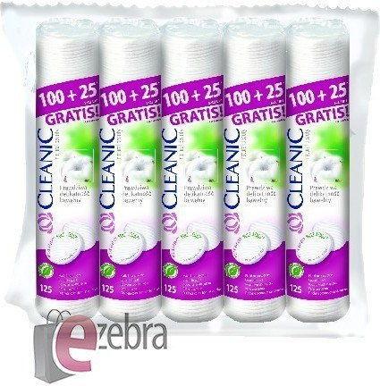 Cleanic pure effect płatki kosmetyczne 5 x 125