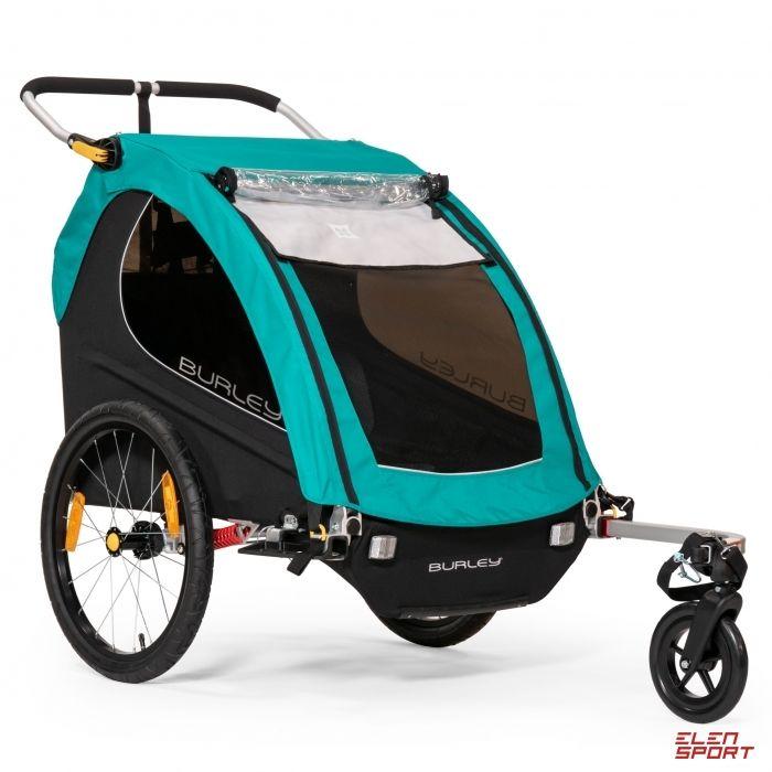 Przyczepka rowerowa dla dziecka Burley Encore X Turkusowa