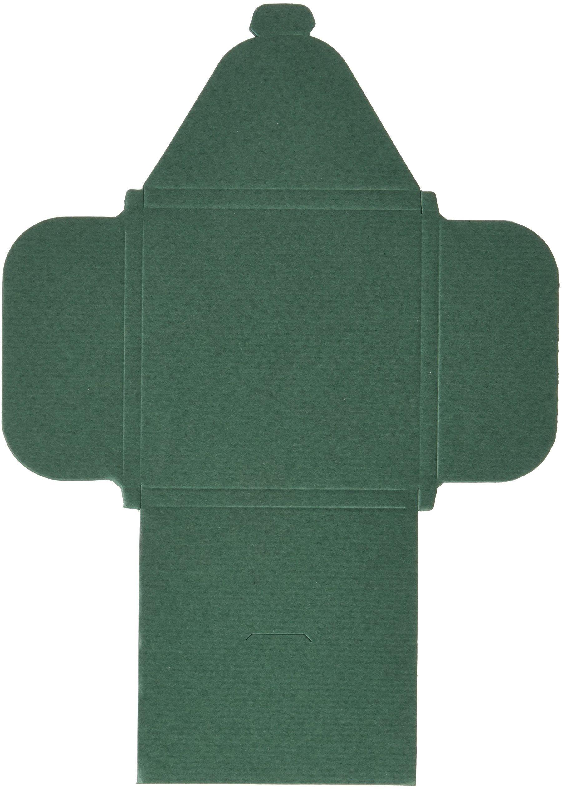 mopec e03.22 kwadratowe pudełko w kolorze zielonym, opakowanie 25 szt.