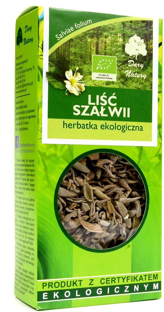Herbatka liść szałwii bio 25 g - dary natury