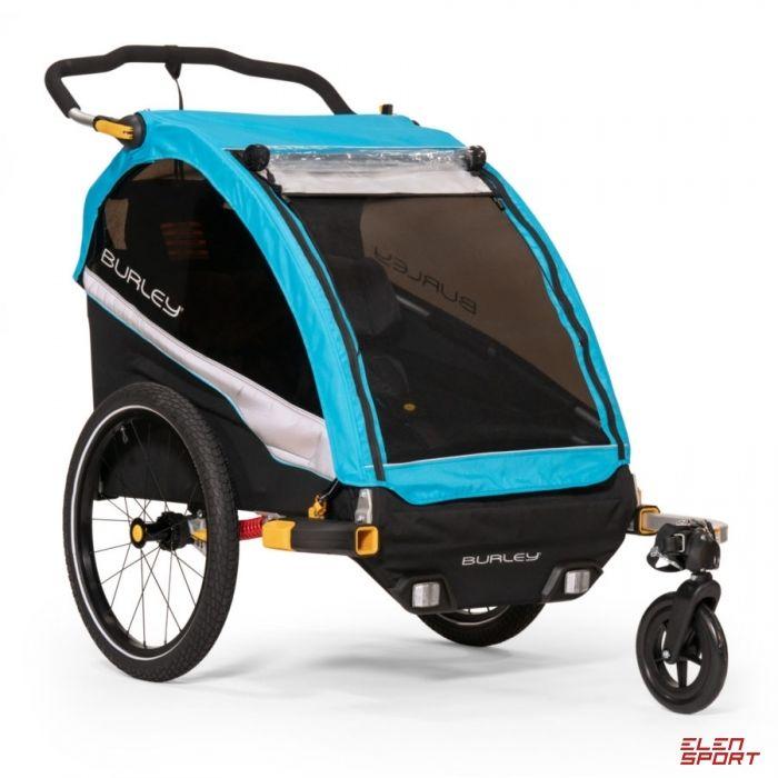 Przyczepka rowerowa dla dziecka Burley D lite X Aqua