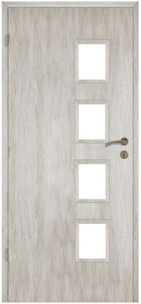 Skrzydło drzwiowe pokojowe Alba Dąb silver 90 Lewe Artens