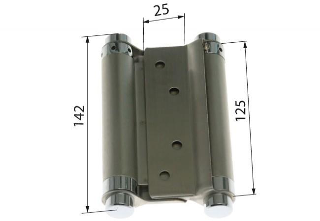Zawiasa wahadłowa 125 mm STAL NIERDZEWNA nr 304