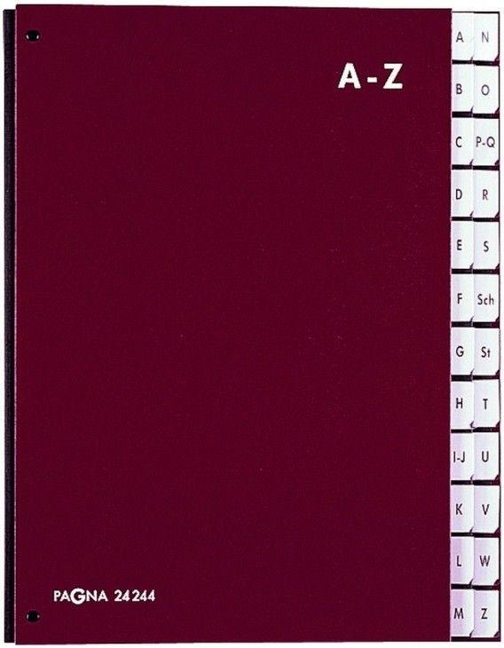 Teczka Do Podpisu Skorowidz A-Z Czarna Pagna z Durable