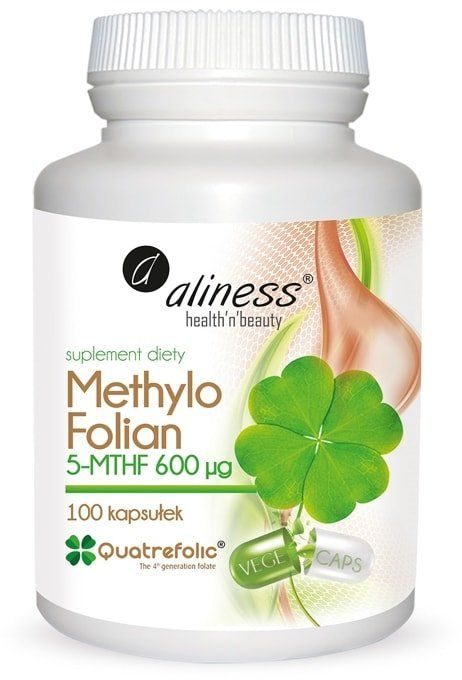 KWAS FOLIOWY 5-MTHF 600 g Methylo Folian (100 kaps) Aliness