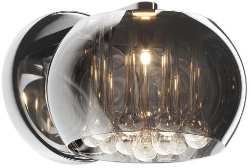 ŻARÓWKA LED GRATIS! Kinkiet Crystal W0076-01D-F4FZ Zuma Line kryształowa oprawa ścienna w nowoczesnym stylu