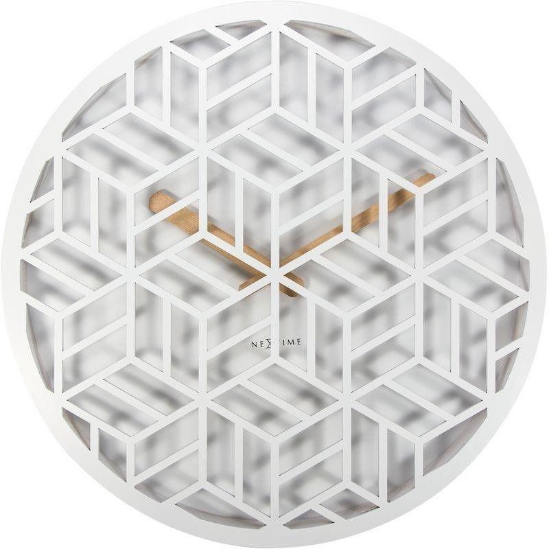 Nextime - zegar ścienny discrete - biały