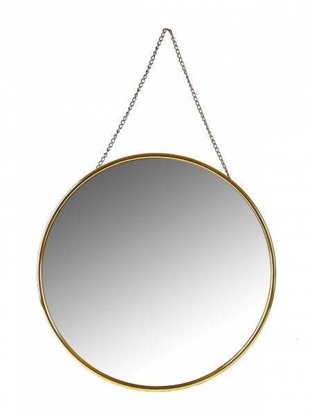 Villa Collection MIRROR Lustro Ścienne Okrągłe 50 cm Złote