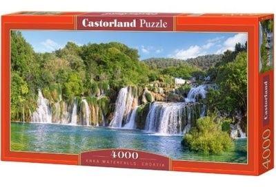 Puzzle Castor 4000 - Wodospady Krka, Chorwacja, Krka Waterfalls, Croatia